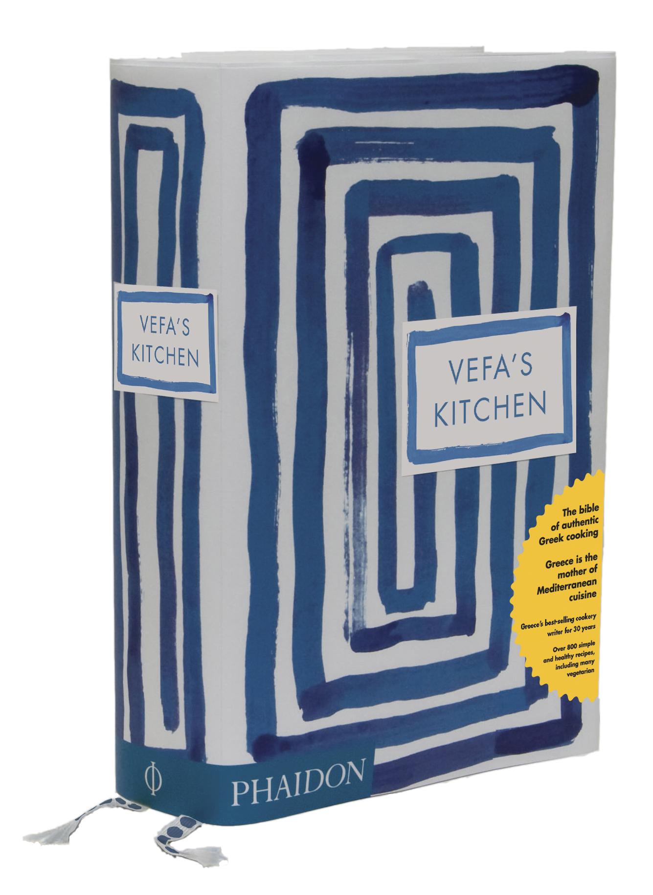 VEFA\'S KITCHEN book shot with sticker   Michael Olivier