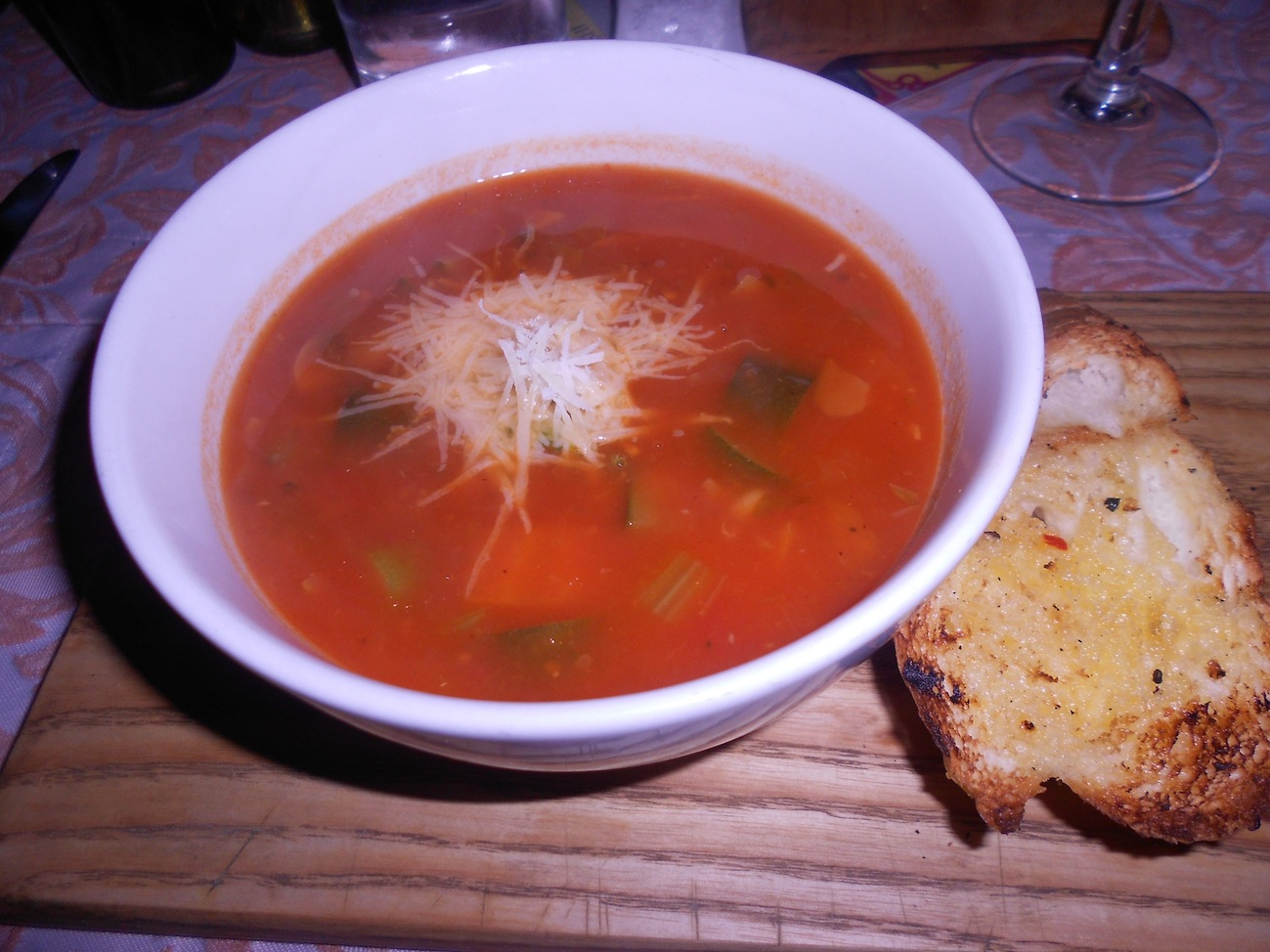 Tomato Soup with Pesto