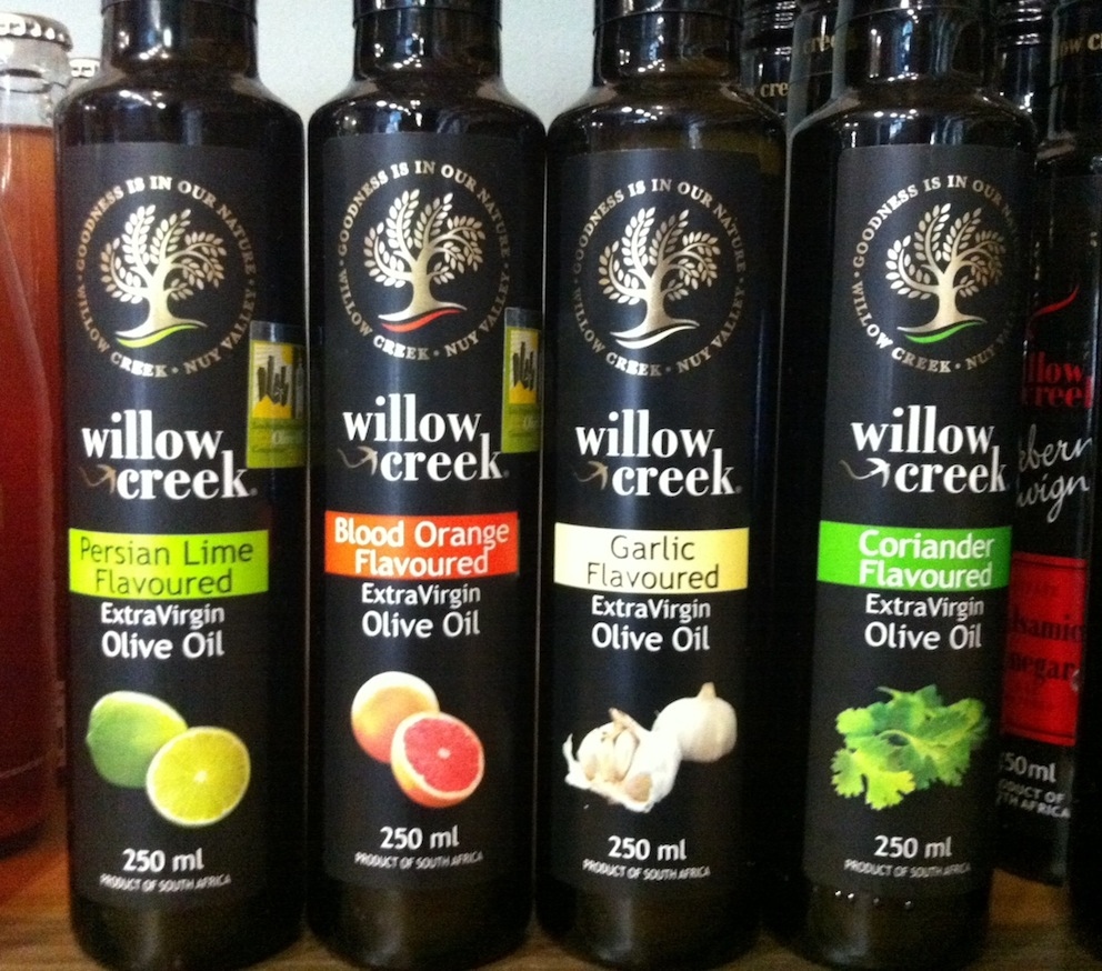 On the shelves, a selection of some of my favourite Olive Oils