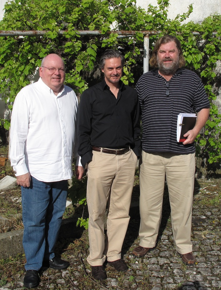 The Douro Boys, wine writers all, myself with Anibal Coutinho & Neil Pendock in Portugal