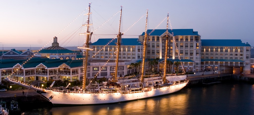 The Table Bay Hotel from the Harbour