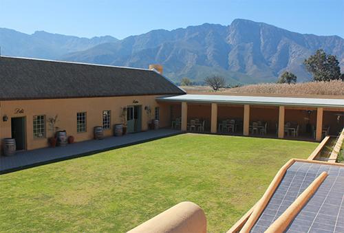 The classic Cape architecture of the farm buildings