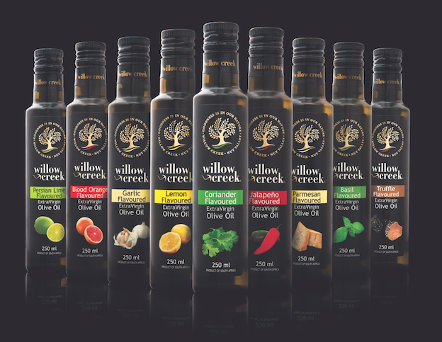 The Willow Creek Flavoured Extra Virgin Olive Oils Range