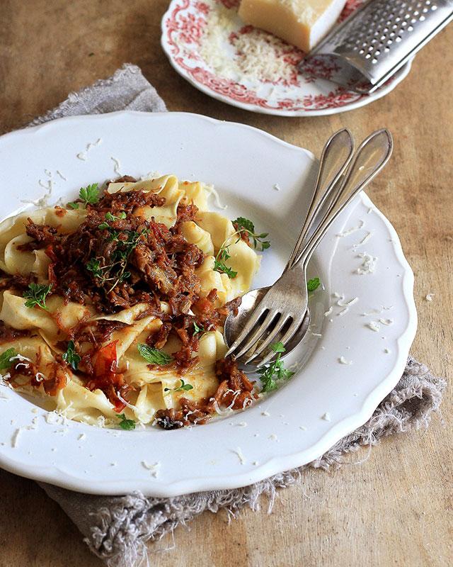 Pasta with Lamb Ragu