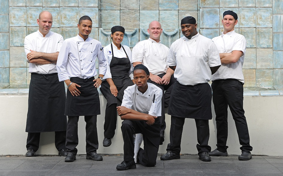 Carl van Rooyen and his team at The Vineyard Hotel copy