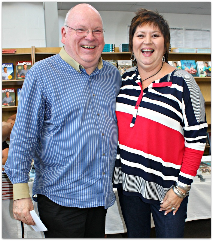 Jenny Morris and me at a gathering of cookery book writers