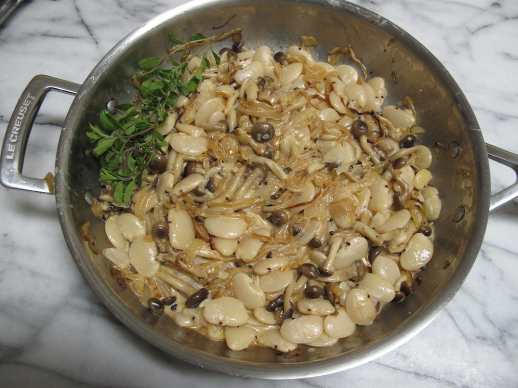 Heerenbone with Brown Shimeji Mushrooms