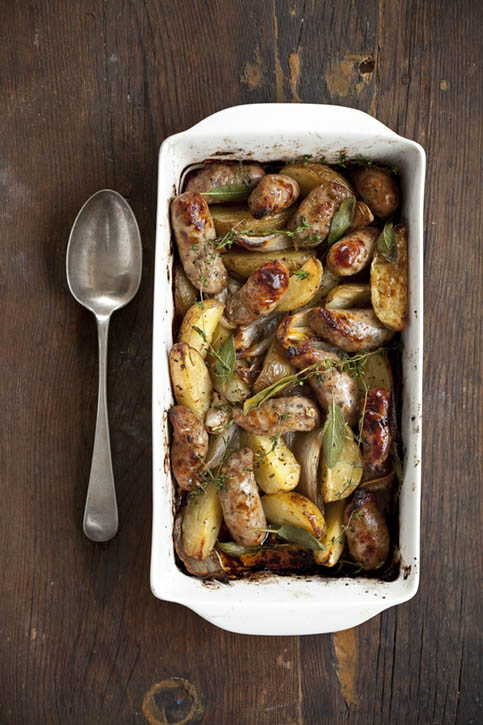 Tracy Foulkes's sausage & potato bake