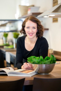 Ilse van der Merwe, also known as The Food Fox, in her demo KITCHEN
