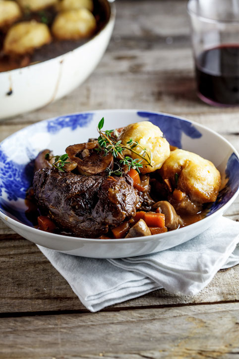 Alida Ryder's Beef Shin Stew with Parmesan Dumplings