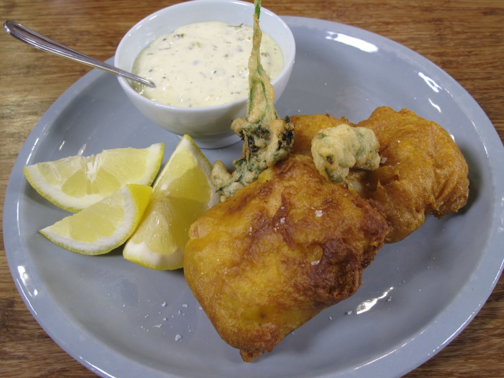 Beer Battered Hake with Tartare Sauce