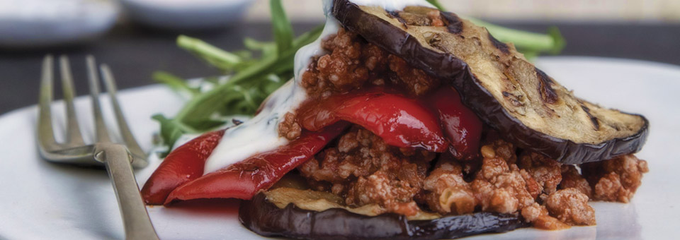 Jackie Cameron's Ostrich Moussaka Stack