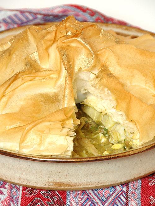 Ina Paarman's Moroccan Chicken Pie with Feta & Artichokes