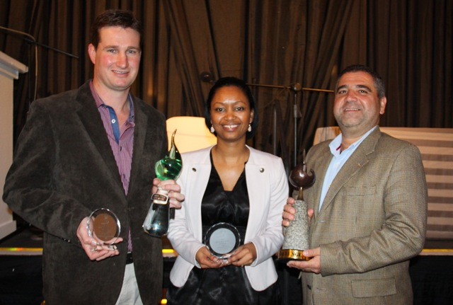 Paarl Wine Challenge - Best Red & White wine of Origin Albertus Louw of Perdeberg, Jade Nel of KWV & Racvan Macici of Nederburg