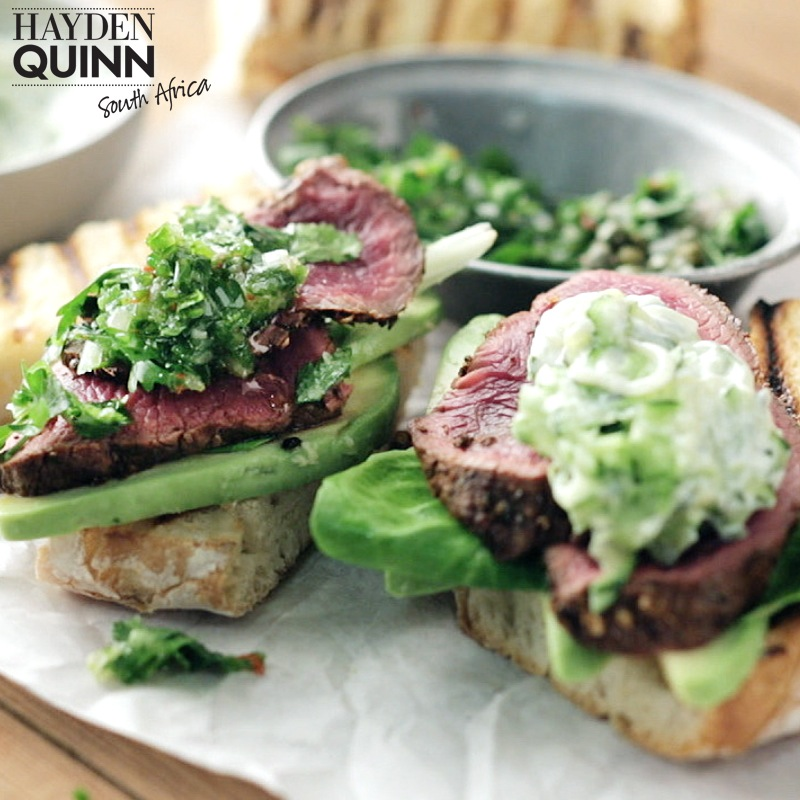 Hayden Quinn's Ostrich Steak Sandwich