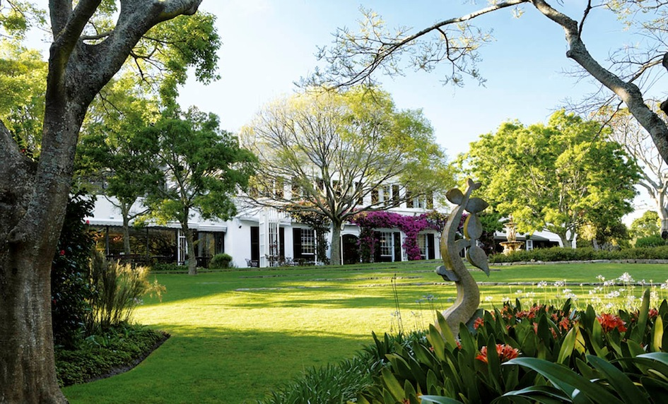 The Vineyard Hotel from the gardens