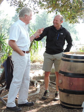 Charles Back, Owner of Spice Route with Charl du Plessis, Winemaker