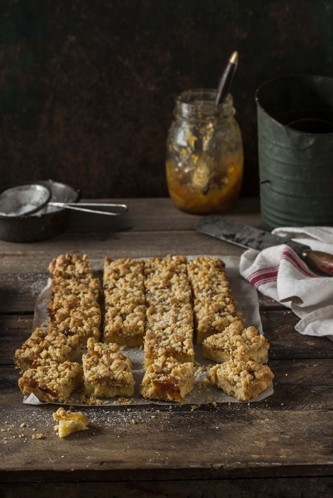 Sam Linsell's Shortbread Bars with Whisky Marmalade