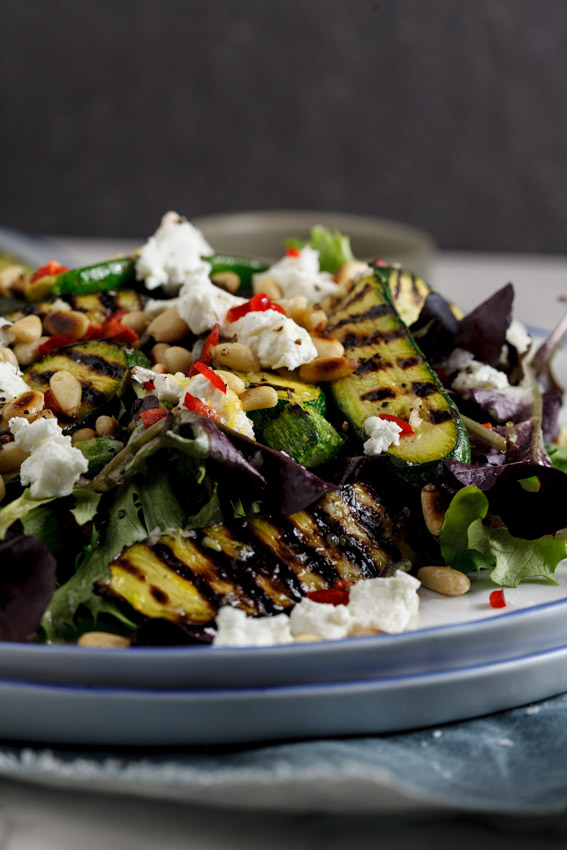 Alida Ryder's Marinated zucchini, goat's cheese & pine nut salad