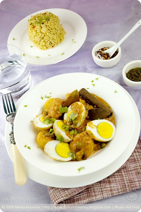 Egg Curry in a Creamy Coconut Gravy