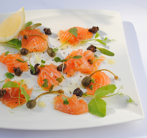 Jane-Anne Hobbs's Gin-Cured Salmon Gravadlax with Crisped Capers