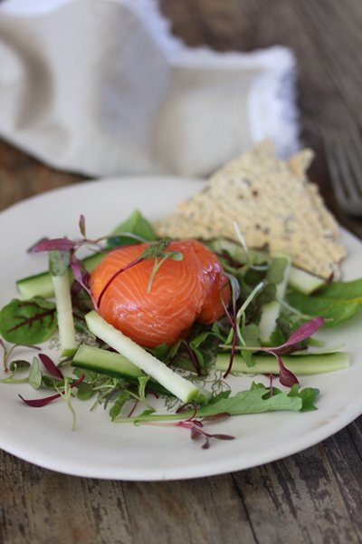 Carey's Smoked salmon trout bulbs with lemon & herb cream cheese filling