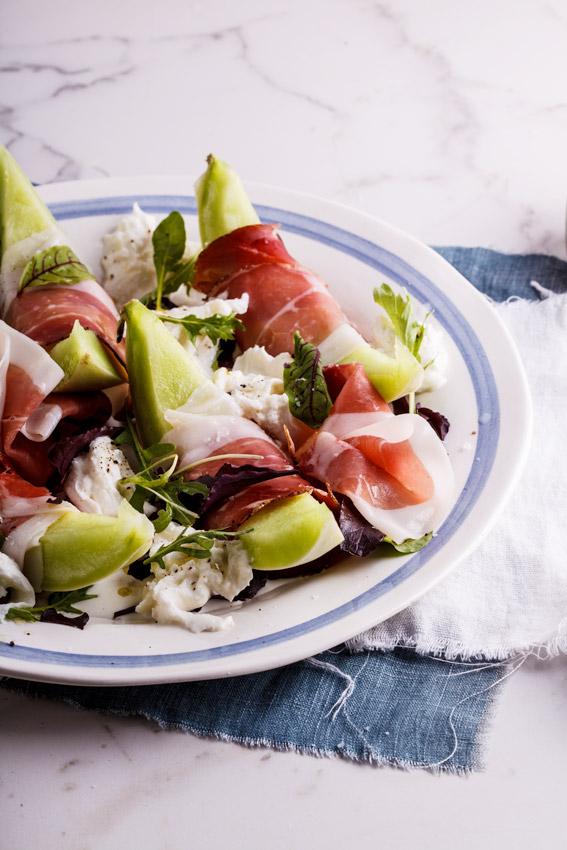 Alida Ryder's Melon salad with prosciutto & fior di latte