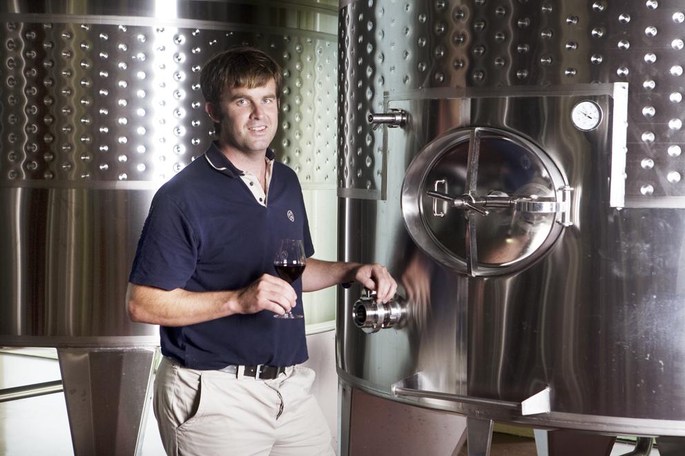 Luke O'Cuinneagain Glenelly's Winemaker