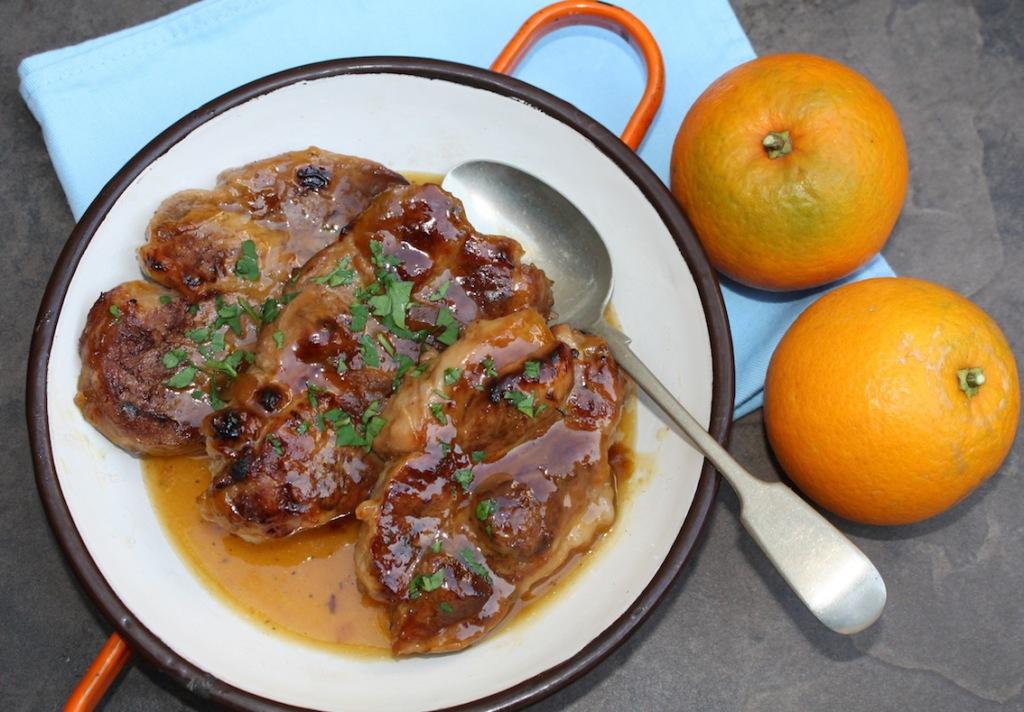 Pork Neck Steaks with Orange Sauce - Sue Green   Michael ...