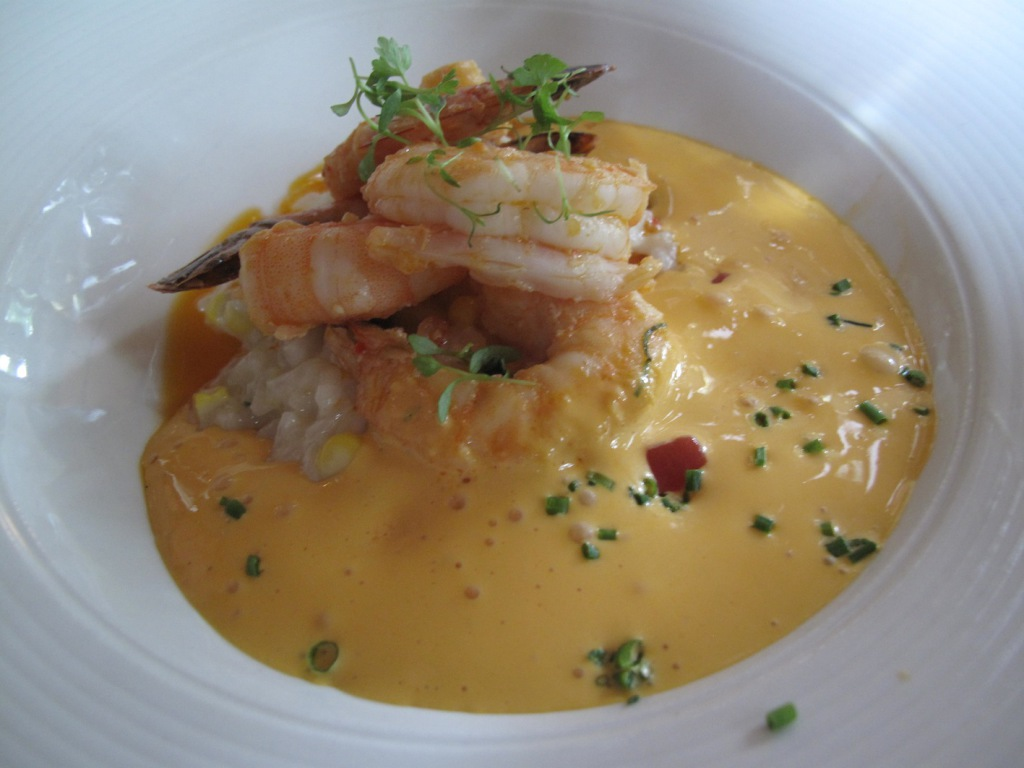 Prawn Risotto with Sauce Americaine