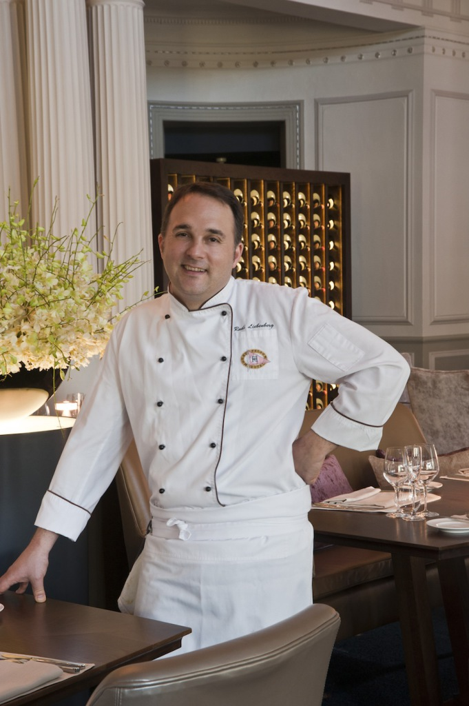 Belmond Mount Nelson's Executive Chef Rudi Liebenberg in the Planet Restaurant