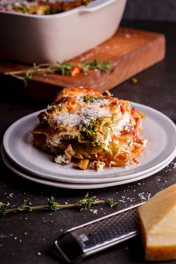 Alida Ryder's Vegetarian Lasagne with Basil Pesto & Ricotta