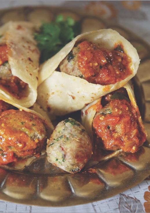 Banana Kebabs in Curried Gravy – Asha Maharaj