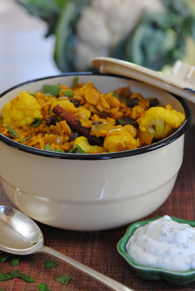 Sophia Lindop's Caulflower & Chockpea Briyani