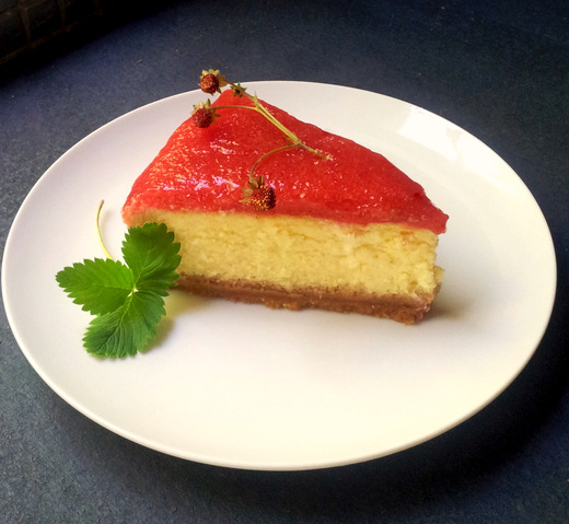 Christmas Cheesecake with a Fresh Plum Topping
