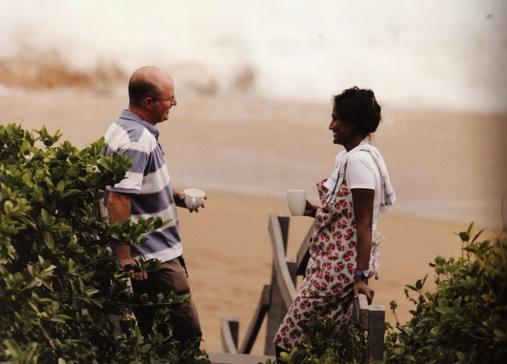 Linda Govender & her husband Russell Burger enjoy a quiet cuppa photo by Clinton Friedman