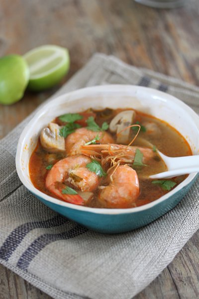Carey Erasmus's Tom Yum Soup with Prawns