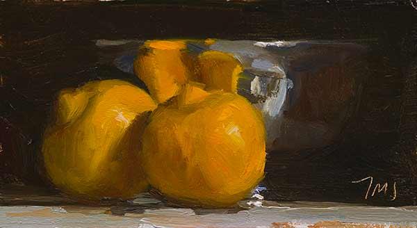 Bergamots painted by Julian Merrow Smith