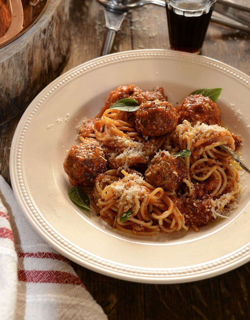 Spaghetti and prosciutto meatballs - Dianne Bibby