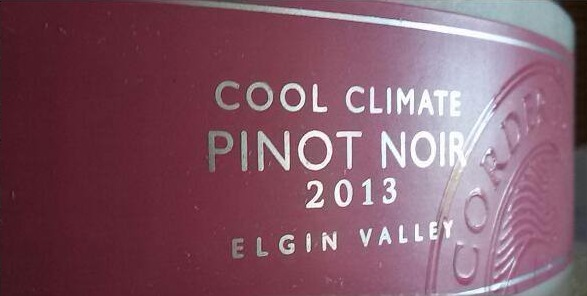 Corder Family Vineyards Cool Climate Pinot Noir 2013