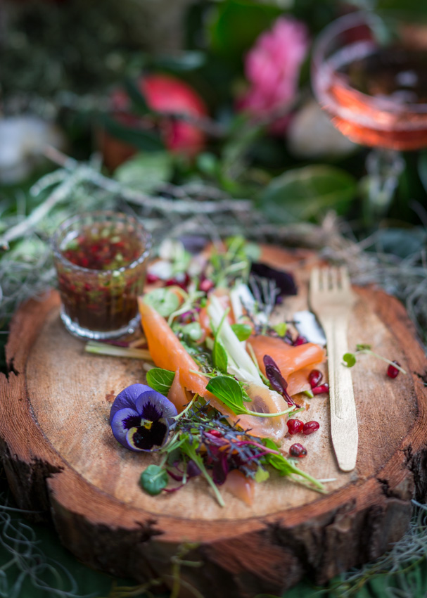 Forest foraged Salad by Vickie de Beer photographed by Charles Russell