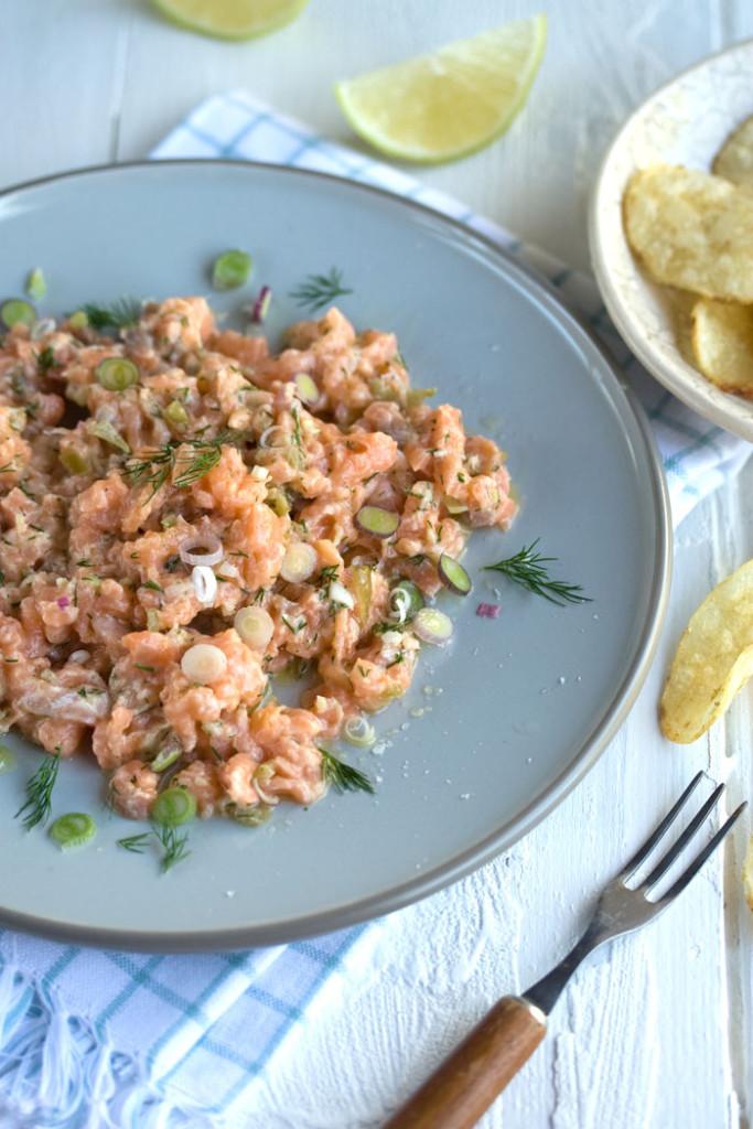 Sam Linsell's fabulous salmon tartare