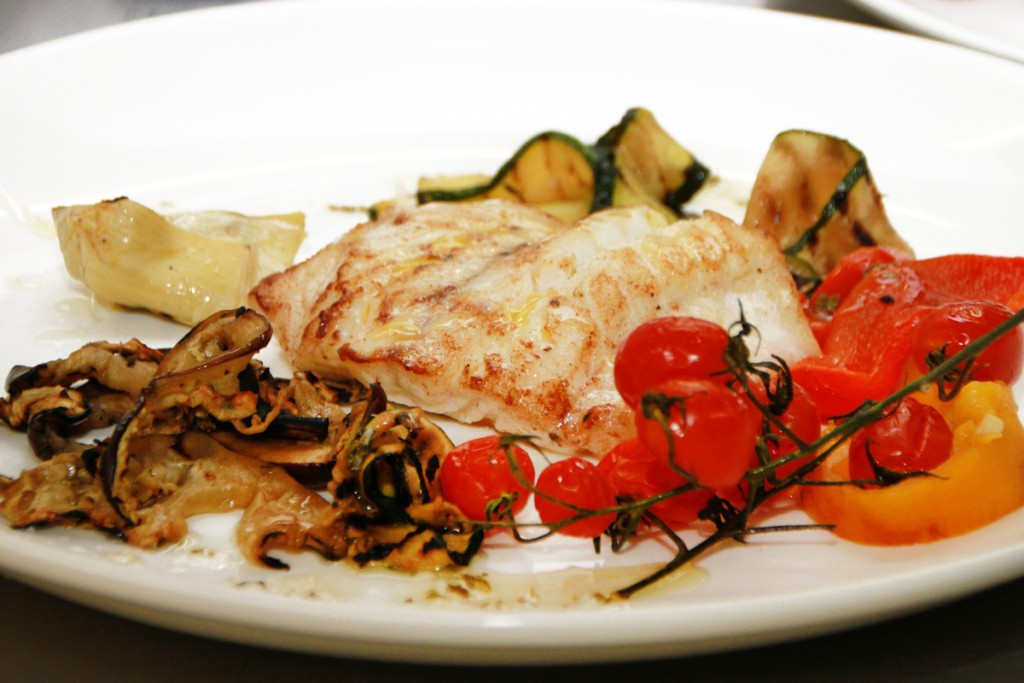 Pan Seared Kingklip with Italian style vegetables