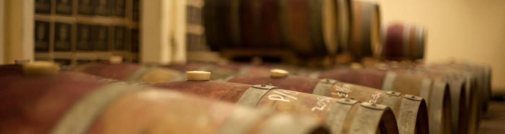 Red wines resting in the De Waal Barrel Cellar