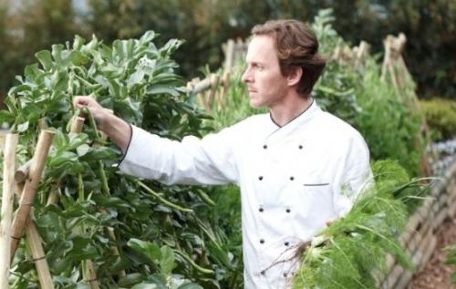 Boschendal's Executive Chef Christiaan Campbell in his garden