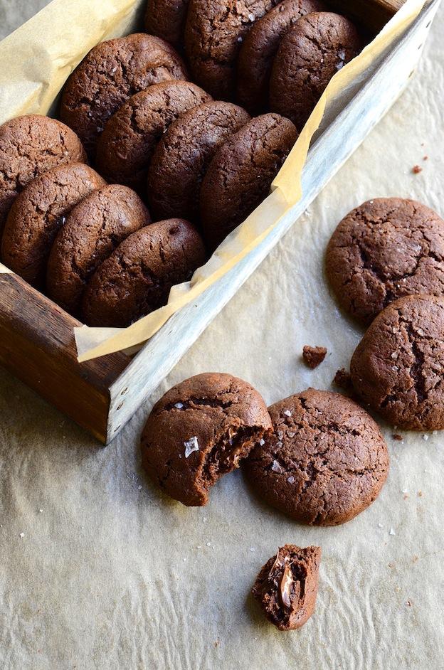 Dianne Bibby's Salted Dark Chocolate Crinkle Cookies