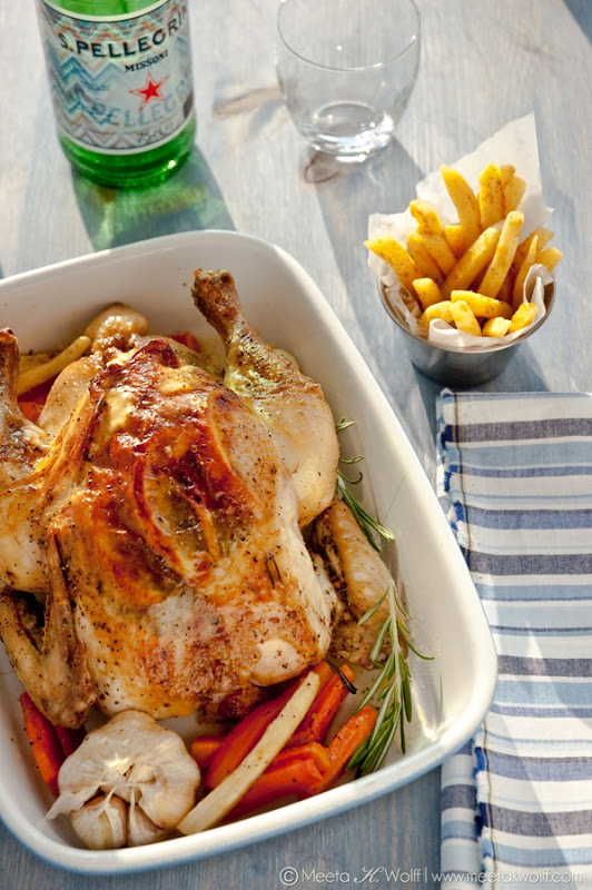 Meeta K Wolff's Grappa Garlic & Lemon Pepper Roasted Chicken