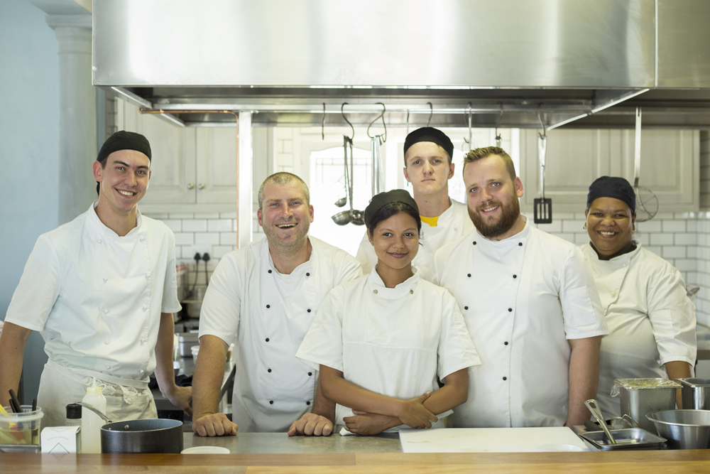 Ryan & his kitchen team
