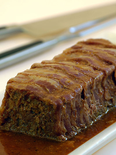 Ina Paarman's Meatloaf with Bacon & Built-in Saice