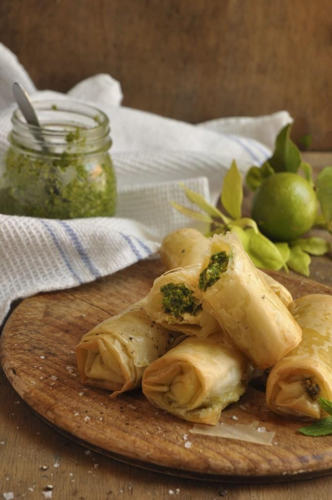 Nina Timm's Cashew Pesto Springrolls